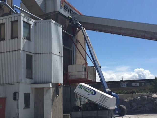 Tvätt av Sydstens silo-anläggning