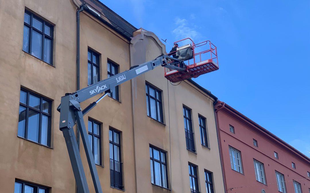 Tvätt av fasader i Malmö